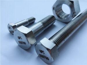 Rhif 53-F55 S32760 1.4501 2507 GORFFENNAF HEX NUTS & BOLTS