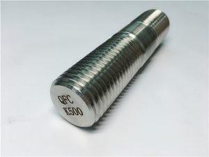 Gwialen wedi'i threaded Rhif 62-Monel K500